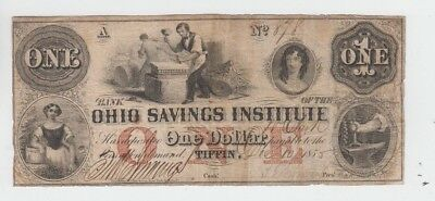 Obsolete Currency Tiffin Ohio fine stains