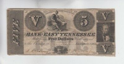 Obsolete Currency Bank of East Tennessee fine