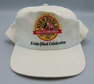 Boy Scouts BSA Baltimore Area Council 1995 John Paul II Archdiocese Hat