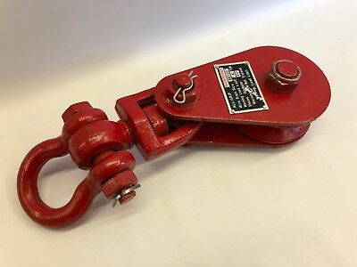 """4 Ton Snatch Block w/ Shackle 4-1/2"""" sheave Towing Car Carrier FREE SHIP"""