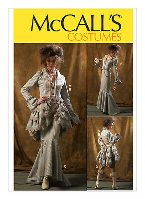 McCall/'s 6770 Misses Jacket Skirt /& Pants Costumes  Sewing Pattern Uncut Sizes 12 To 20 BustleCapelet