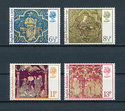 Great Britain 798-01 MNH, Christmas 1976, Embroidery