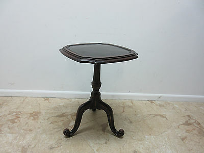 Maitland Smith Cast iron Tin Top French Regency Lamp End Table Pedestal