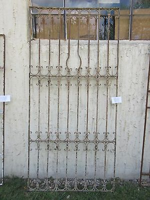 Antique Victorian Iron Gate Window Garden Fence Architectural Salvage #853