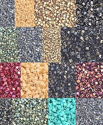 Japanese 3mm Square//Cubes Glass Seed Beads-28 Grams CHOOSE COLOR!