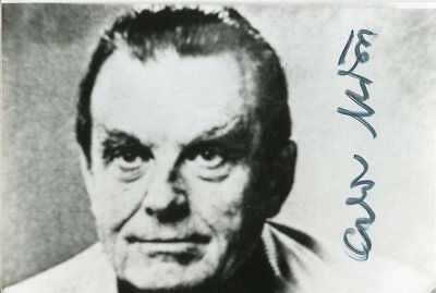 Czeslaw Milosz Nobel Prize Literature Polish Poet Winner Signed Autograph Photo