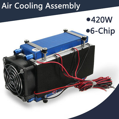 12V 420W 6-Chip Semiconductor Refrigeration Cooler Radiator Kit Air Conditioning