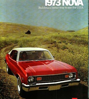 1973 Chevrolet Nova Deluxe Color Sales Catalog