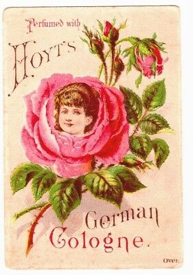 Hoyt's German Cologne Victorian Trade Card perfumes Lowell Ma
