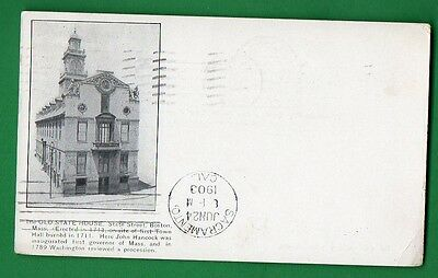 Us Massachusetts - Boston, The Old State House Vintage Pc Used  127