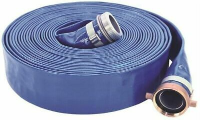 UDP 1147-2000-50 Lay-Flat Discharge Hose Assembly, 2 In, 50 Ft, Threaded Male X