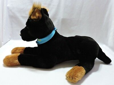 """Hotel For Dogs Henry Plush Beauceron Stuffed Animal 26"""" Black Brown Toy Soft Big"""