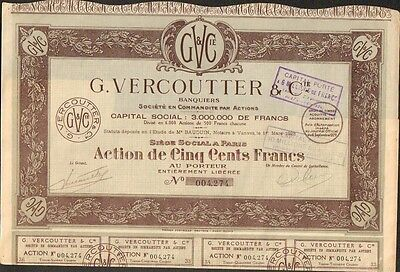 G. VERCOUTTER & Cie, Banque (J)