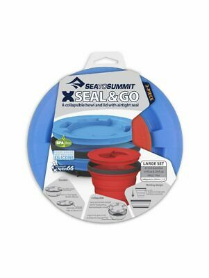 Sea To Summit X-Seal & Go Collapsible Food Containers Set - Royal Blue - LG