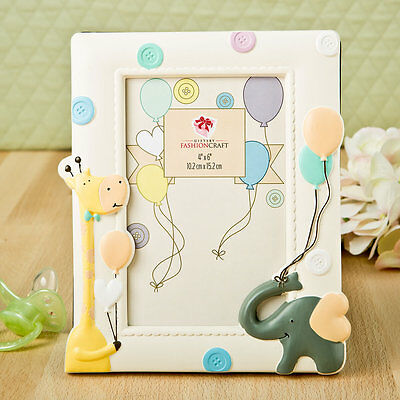 10 Adorable Giraffe and Elephant Poly Resin 4x6 Photo Frames Baby Shower Favors