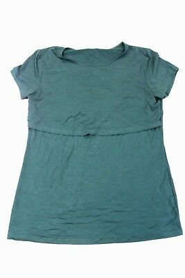 Latched Mama Women's S/S Nursing Maternity Top Forest Green AB4 Size 2XL NWT