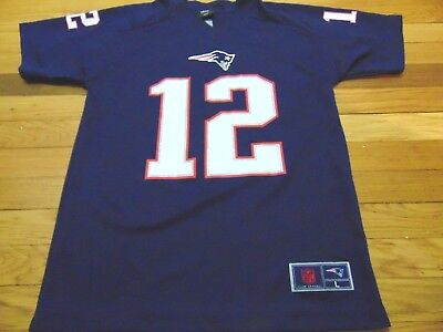 Nfl Team Apparel New England Patriots Tom Brady Blue Youth Jersey Size L 14- 16 4acc1a7a2