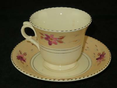 Vintage Replacement China Burleigh Ware CUP & SAUCER Tudor Pattern 1930s