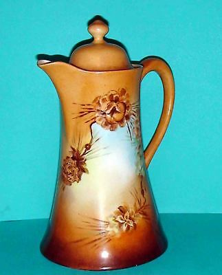 ANTIQUE NIPPON CHOCOLATE POT Hand Painted, Signed D. Ming 1923 ONE OF A KIND