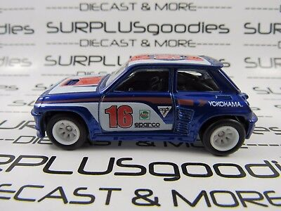 Hot Wheels 1:64 Scale LOOSE Collectible Blue RENAULT 5 Turbo Diorama Display Car