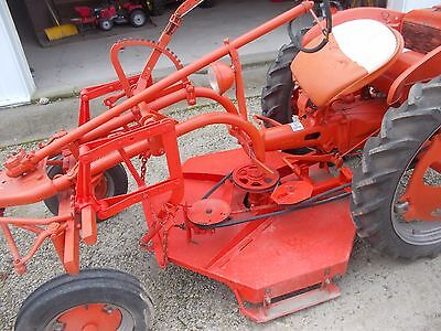 Allis chalmers G tractor belly mower AC tool bar lift belt pulley drive assembly