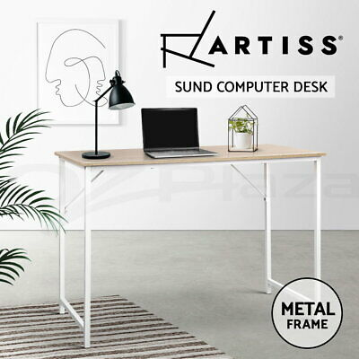 Artiss Office Computer Desk Laptop Metal Table Student Study Home Work White
