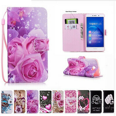 Magnetic Case PU Leather Stand Retro Colorful Flip Slot Wallet Cover For Huawei