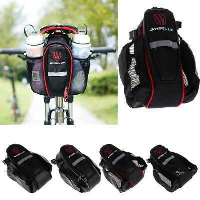 2 Pockets Water Bottle Holder Bike Bag Cycling Back Seat Tool For Mountain Bike