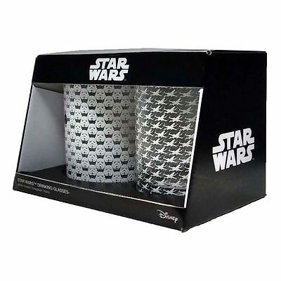 Officially Licensed Star Wars Drinking Glasses Set of 2