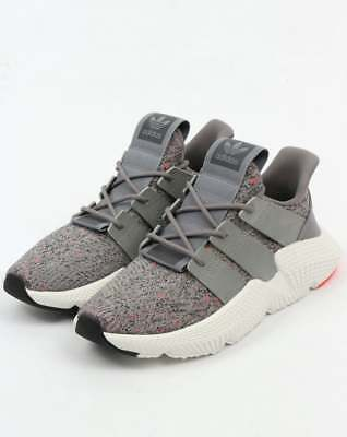 adidas Prophere Trainers in Grey & White, knitted upper streetwear - SALE
