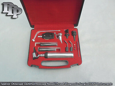 ENT Ophthalmoscope & Otoscope Diagnostic Set, Ear,Nose & Throat Set