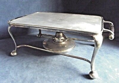 """SUPERB Large 11"""" ~ COMPLETE ~ SILVER Plated ~ WARMING Stand ~ c1900"""