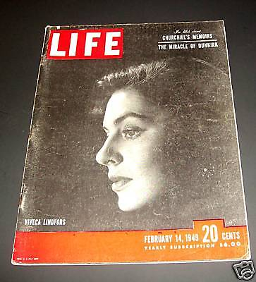 February 14, 1949 LIFE Magazine Complete old ads ad Reagan + FREE SHIPPING 2 Feb