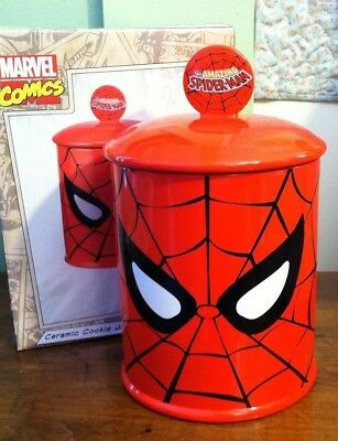 Marvel Comics THE AMAZING SPIDER-MAN Spiderman COOKIE JAR New In Box