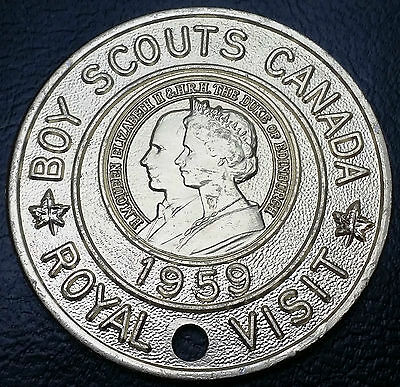 1959 Boy Scouts Of Canada Royal Visit Good Turn Medal - FREE COMBINED S/H