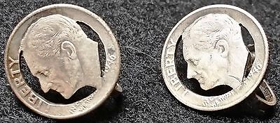 1946 Roosevelt Silver Dime Set of Pins - 90% Silver - Free Combined S/H