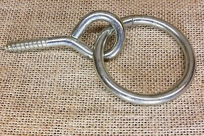 "hitching ring 2 1/2"" hitch barn door pull eye bolt plant hook Horse or Dog tie"