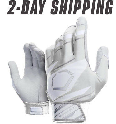 EvoShield Speed Stripe Adult SPEED STRIPE GEL TO SHELL Batting Gloves WHITE/GRAY