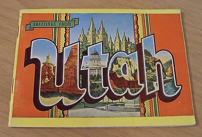 "VTG 1930's SOUVENIR 32 Color PHOTO Views Booklet~""Greetings from UTAH""~"