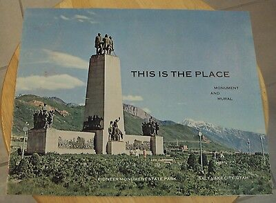"VTG 1964 RARE Souvenir Booklet~""THIS IS THE PLACE""~Pioneer MONUMENT~Utah~"