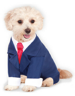 Blue Pet Dog Cat President Trump Business Suit Costume