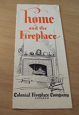 """RARE 1920's Ad Brochure/Booklet~""""HOME and the FIREPLACE""""~Colonial Co. Chicago~"""