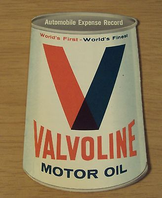 "VTG 1960's Automobile Expense NOVELTY Guide~""VALVOLINE MOTOR OIL""~"