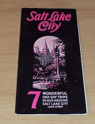 "1932 TRAVEL Brochure~""SALT LAKE CITY"" 7 One-Day TRIPS~"