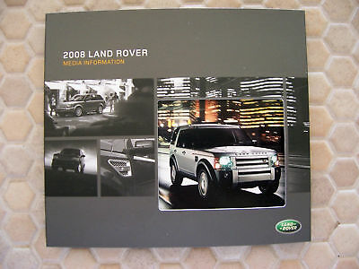 Land Rover Official Lr2 Lr3 Range Rover Press Kit Brochure 2008 Usa Edition