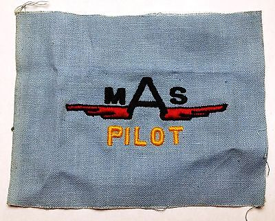 Vintage Air Force MAS Pilot Aviation Insignia Patch / Badge - Free Combined S/H