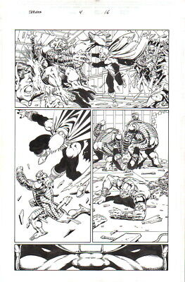 Jim Starlin 2004 Adam Warlock, Pip, Thanos Original Art-Free Shipping!
