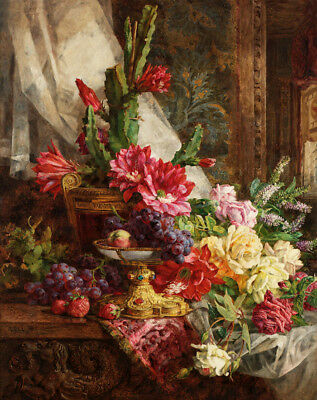 Classical still life floral oil painting HD printed on canvas L1680