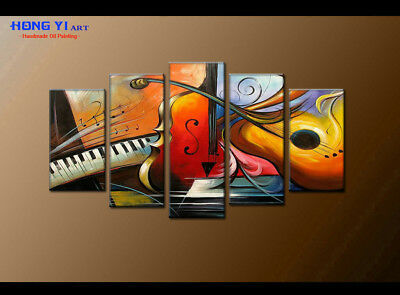 Large Framed Modern Art Wall Musical Abstract OIL Painting Canvas Home Decor 55