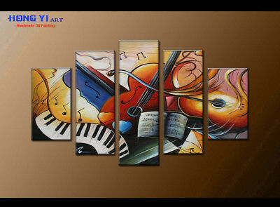 Large Framed Modern Art Wall Musical Abstract OIL Painting Canvas Home Decor 47